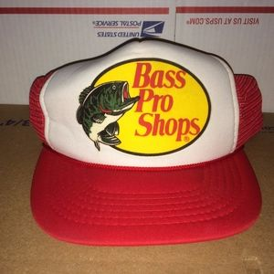 Bass Pro Shops Accessories - Bass Pro Shops Vintage Mesh trucker Hat  Fishing Ht eb533f5e5a9